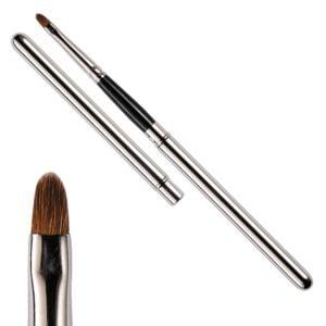 Pennello per Labbra Estraibile Professionale 4 mm